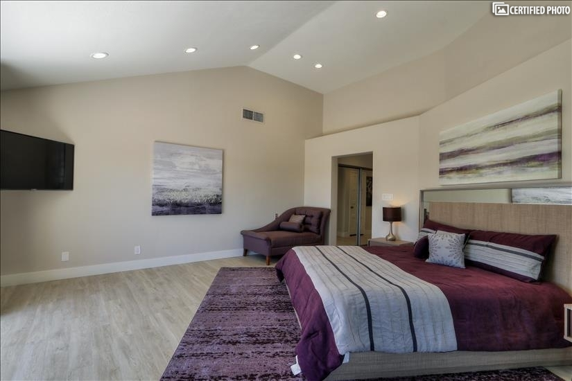 Master Bedroom suite with King Bed & 50 inch HD TV