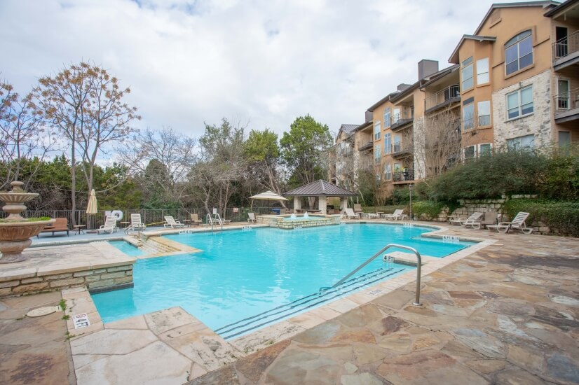 Enjoy this luxury hot tub and pool in our community