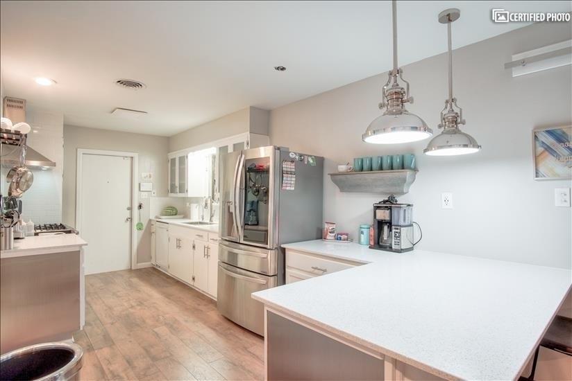 Open layout kitchen concept.