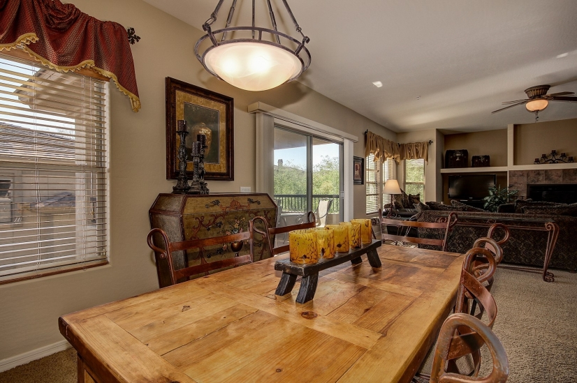 DINING ROOM WITH PATIO VIEW