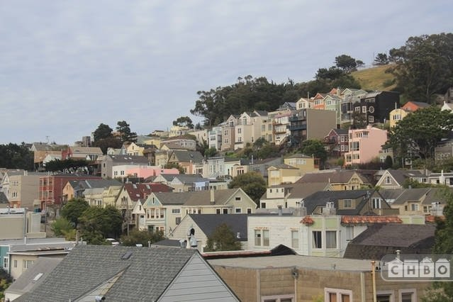 Bernal rooftop view from Master Bedroom and breakfast counte
