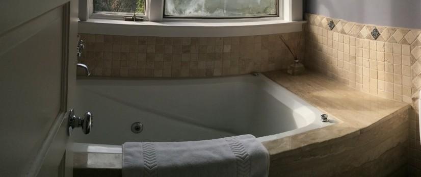 Japanese soaking tub.