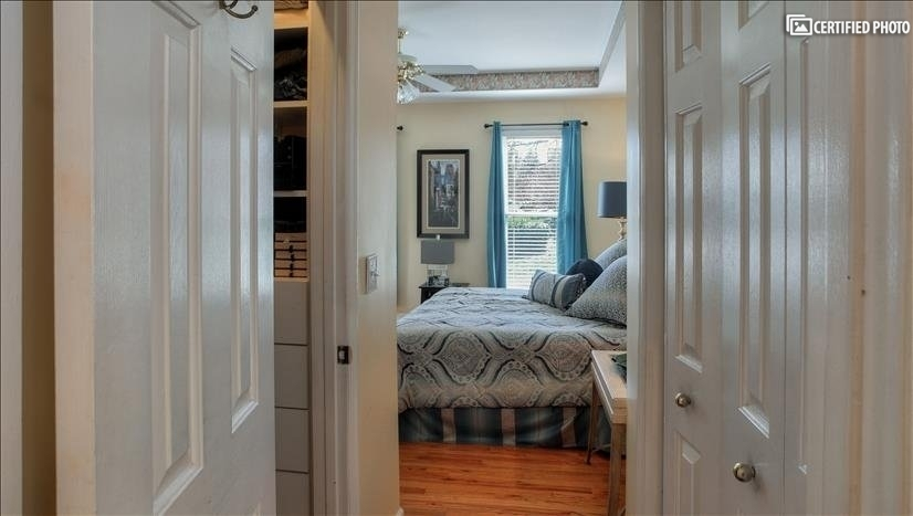 His and Hers closet lead into master bath