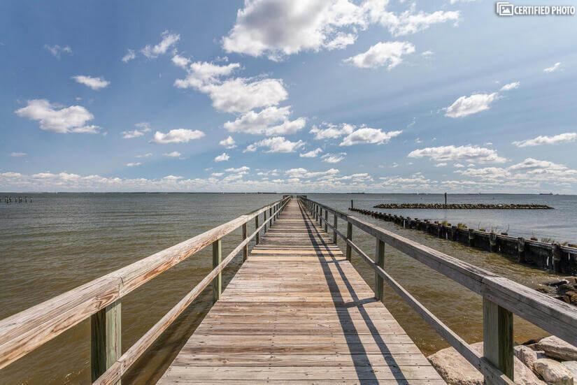 Bay Highlands Pier 1-mile away.