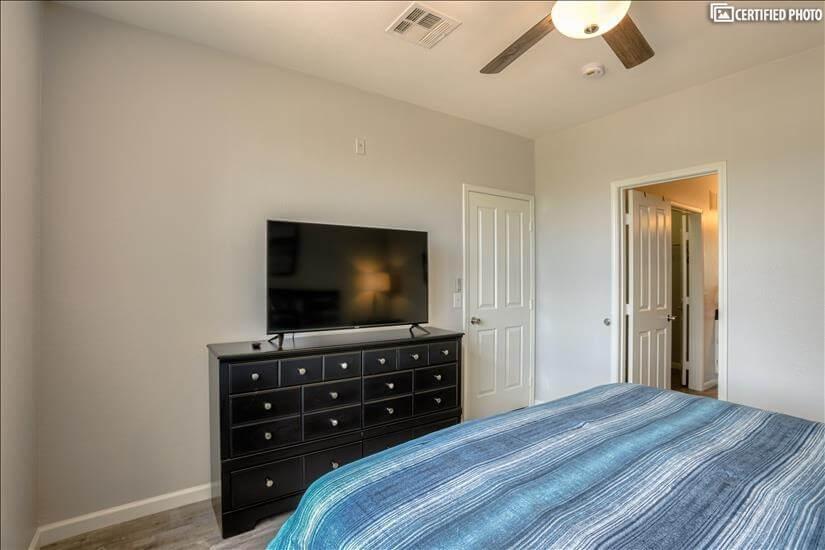 """50"""" Smart TV in Master Bedroom"""
