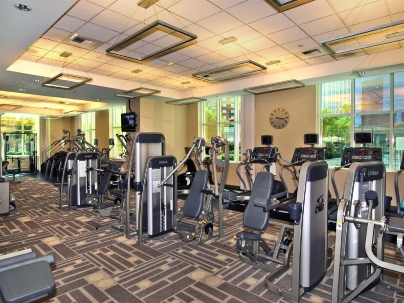 Fitness Center located on 1st floor of tower