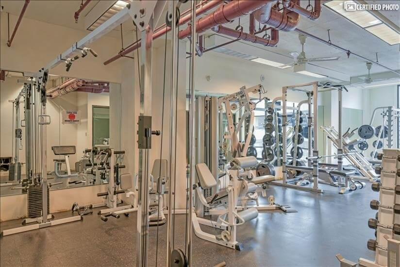 Full aerobic and weight room