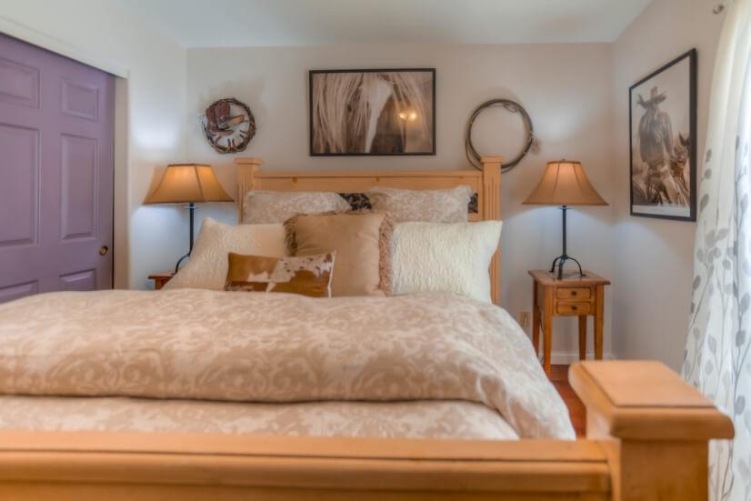Hall Bedroom #1.  Queen size bed