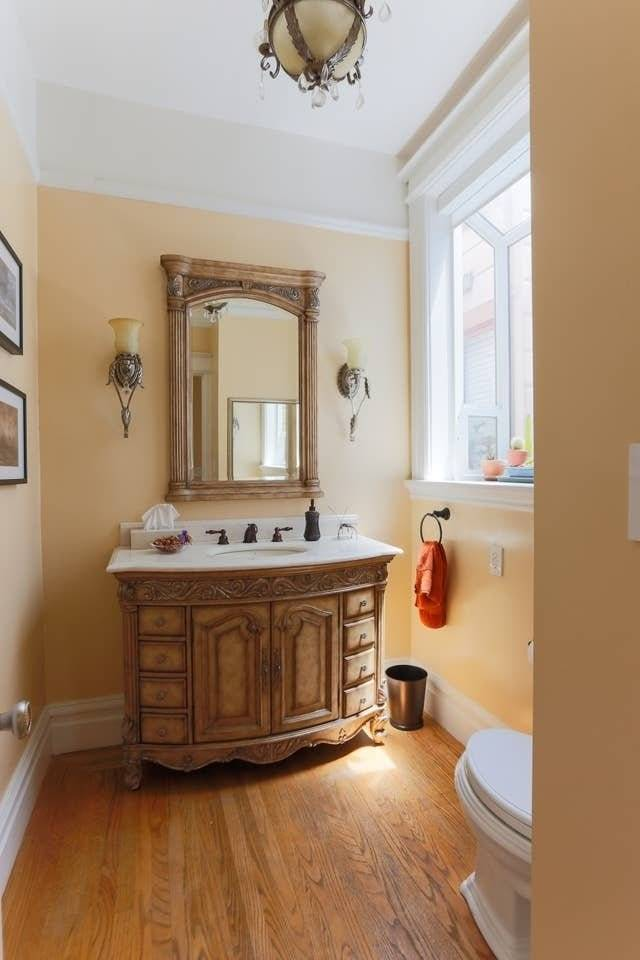 3rd bathroom (half bath) is spacious and classy