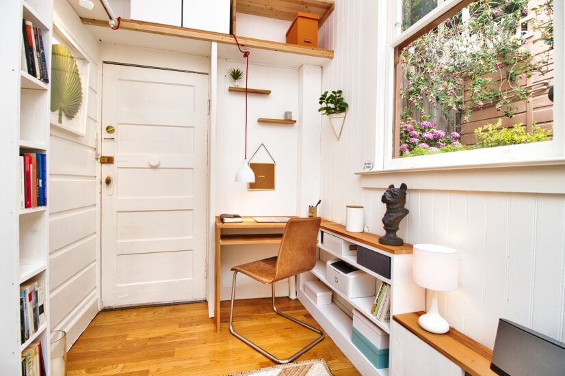 Bright, cozy study--the perfect spot to work from home
