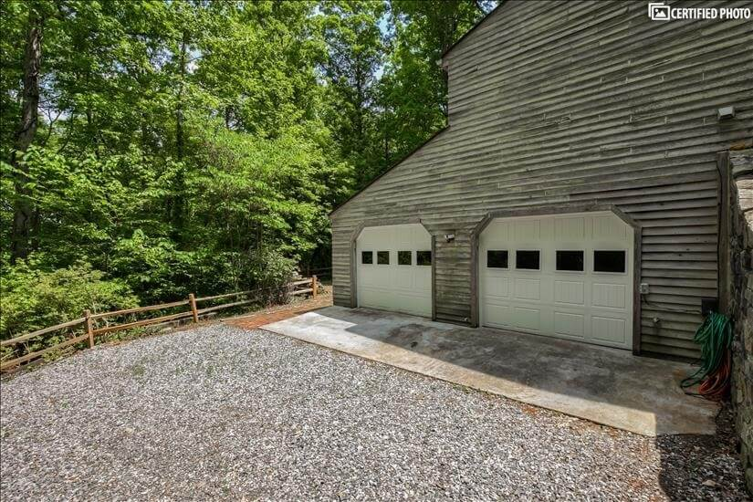 Two car garage for your use.