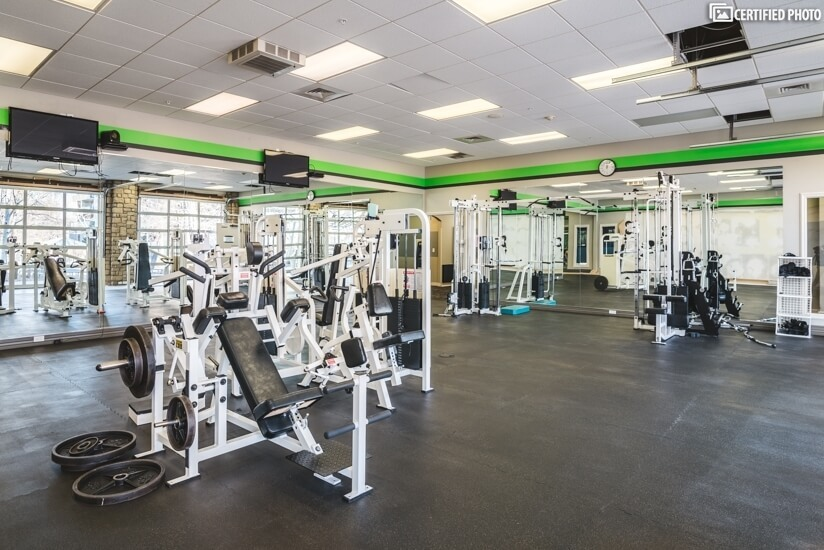Completly new gym within the complex.