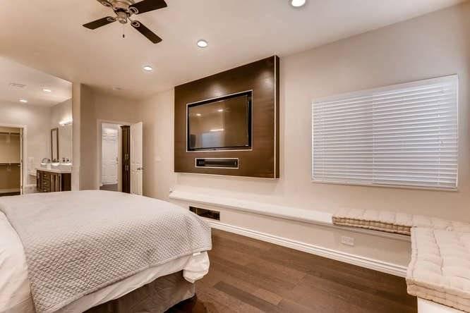 Master Bedroom w/ built-in entertainment and soundbar