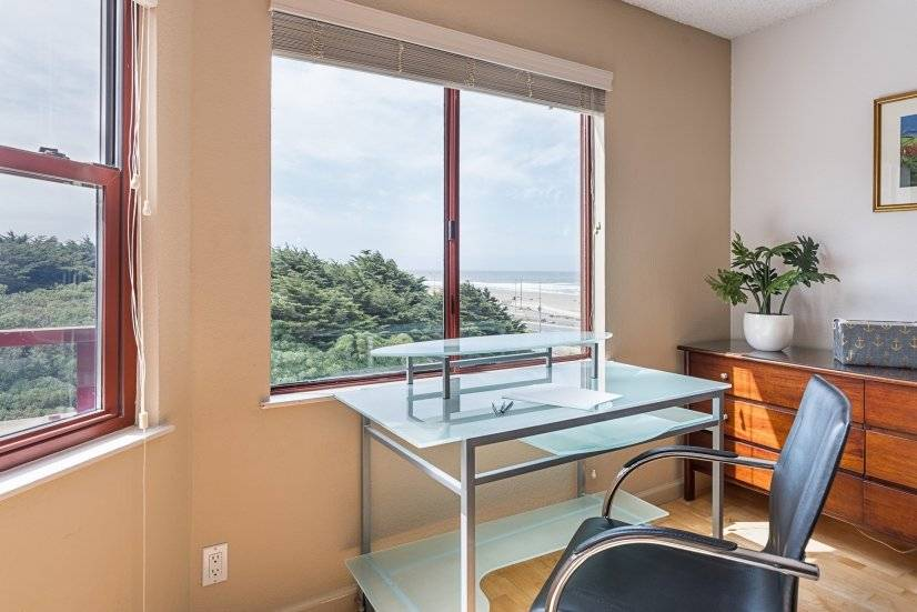 Office Area -OCEANFRONT VIEW from your desk