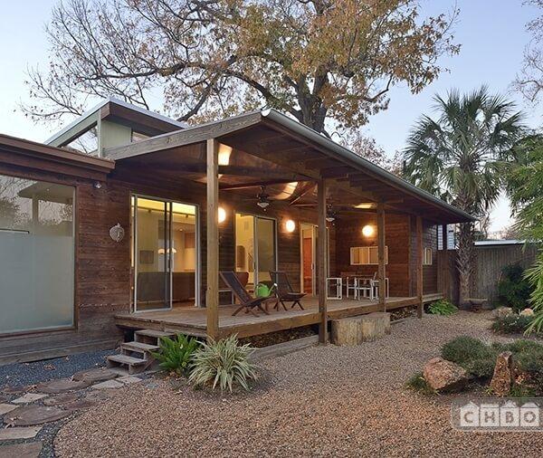 back porch and southwest zen garden