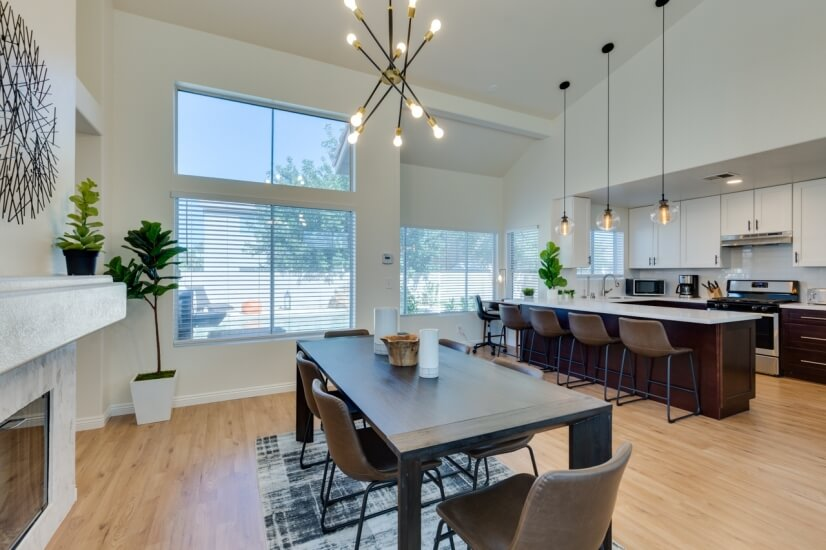 Kitchen Open to Gathering Spaces