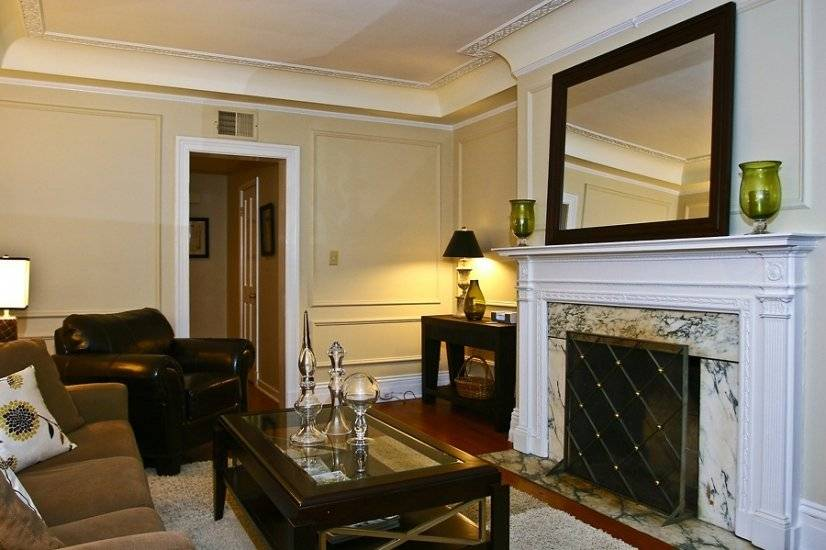 Handsome original detailing, moldings and fireplace