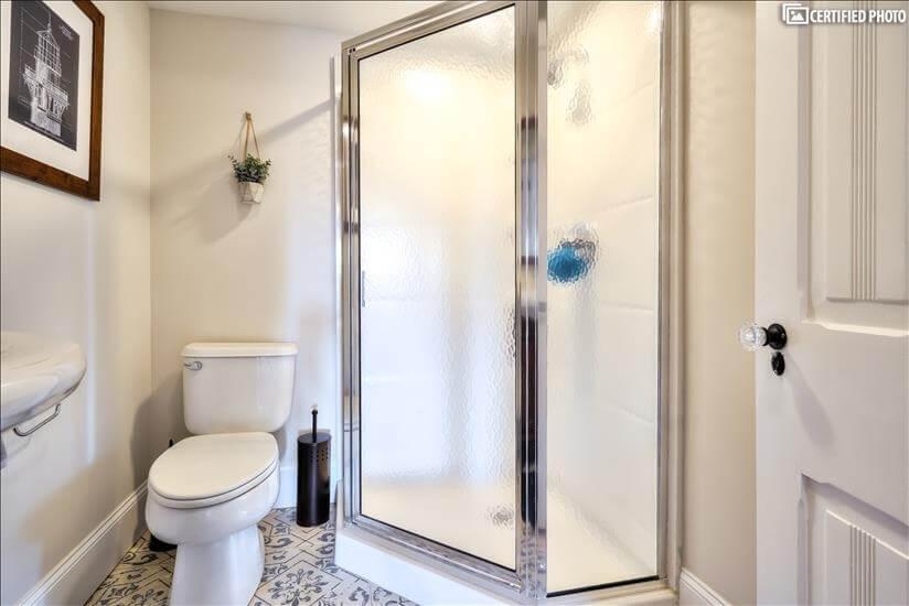 3rd Floor Bathroom Shower and Toilet