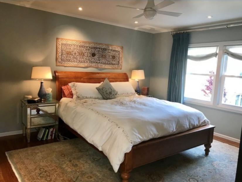 Master bedroom with California King- super quiet w/ garden