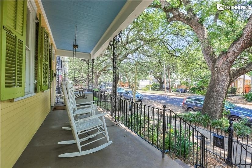 Front porch looking out on Louisiana Avenue