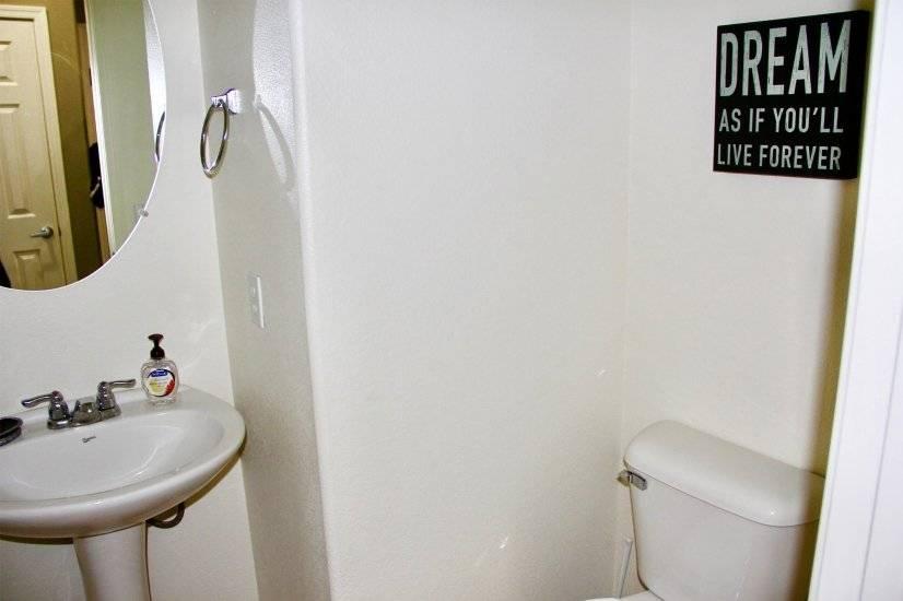 Vanity half-bathroom downstairs