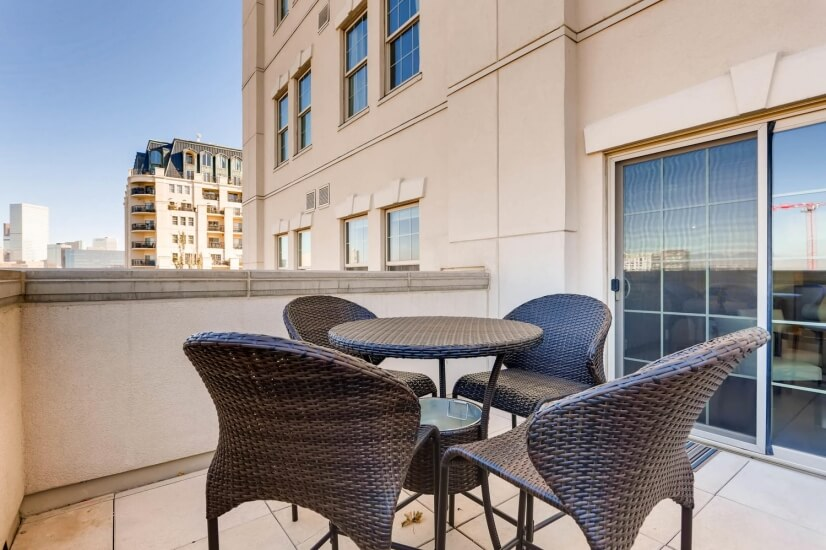 Private west facing terrace, perfect for morning coffee