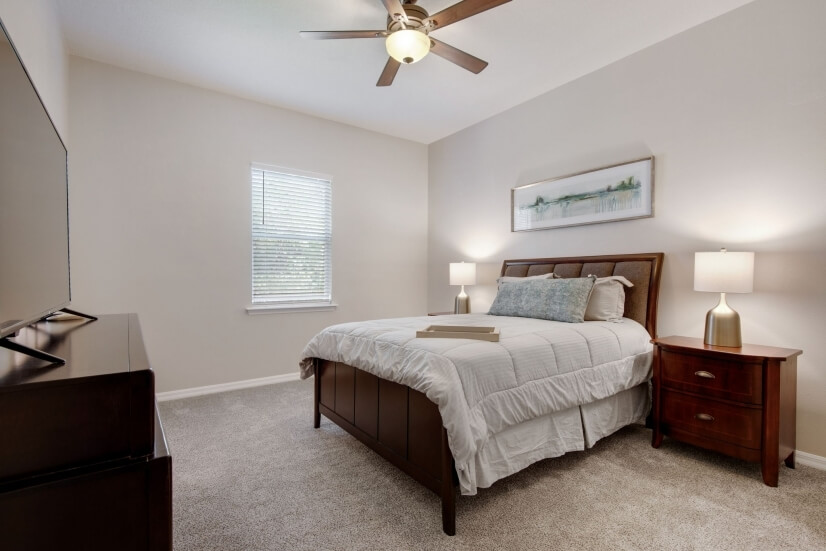Master bedroom with on-suite bathroom