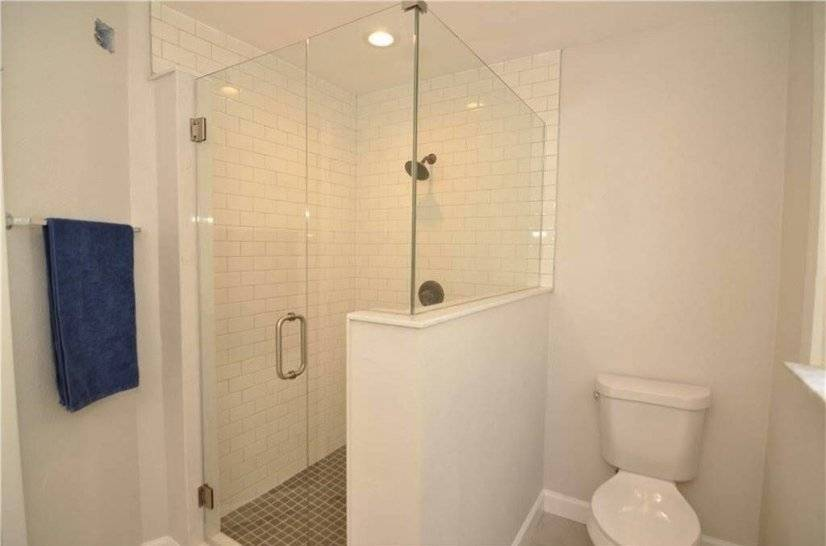 The master suite features a new walk-in shower