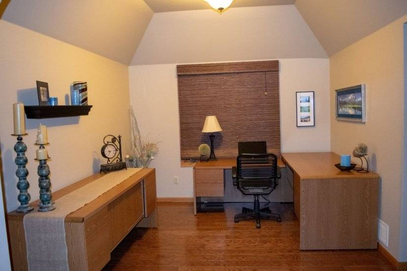 Large home office off sitting room and kitchen