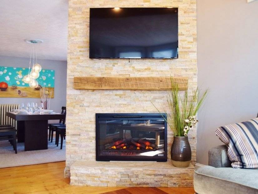 Living - TV & Fireplace