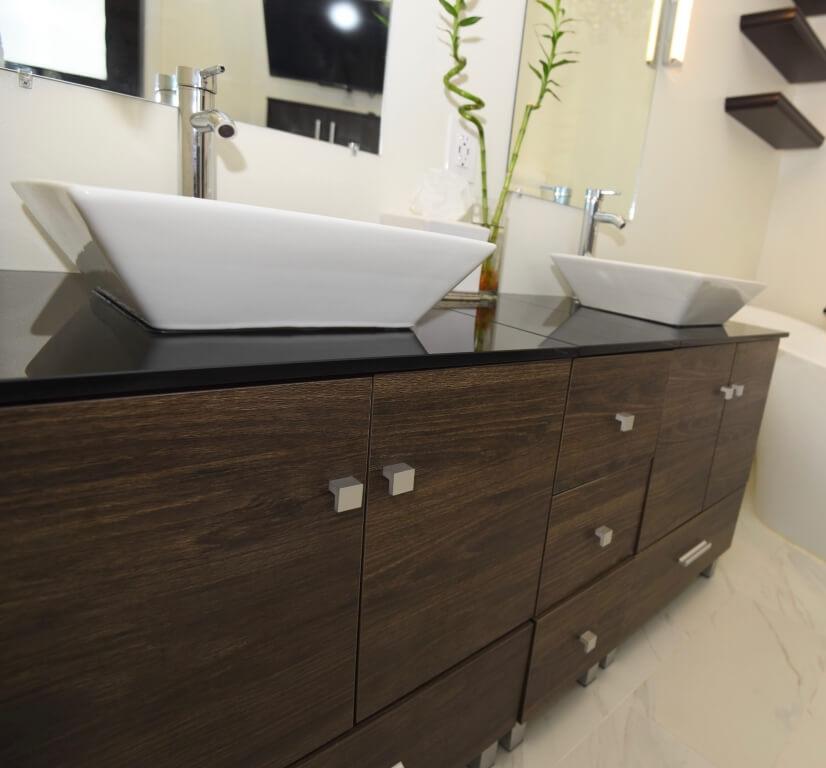 Double Vanities w/Vessel Sinks
