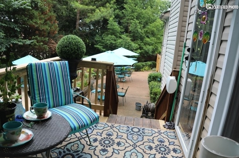 Deck, and two patios for entertaining and family gatherings
