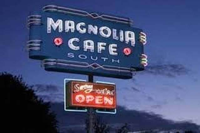 Some nearby places include Magnolia Cafe (1.4 mi)