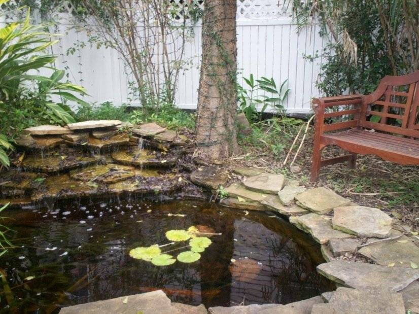 A relaxing water feature in the back yard