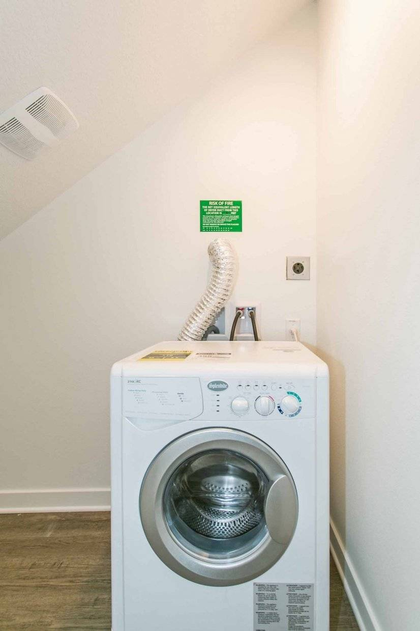 Utility Closet with Combination Washer/Dryer