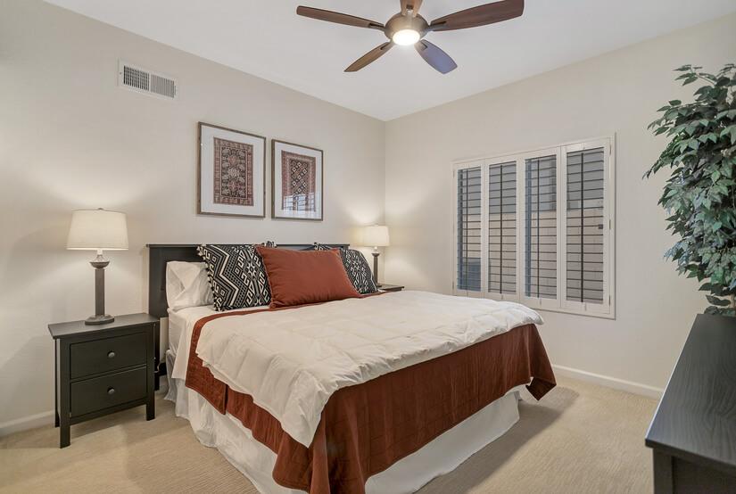 Bedroom 2: King Bed, Dresser, New Smart TV