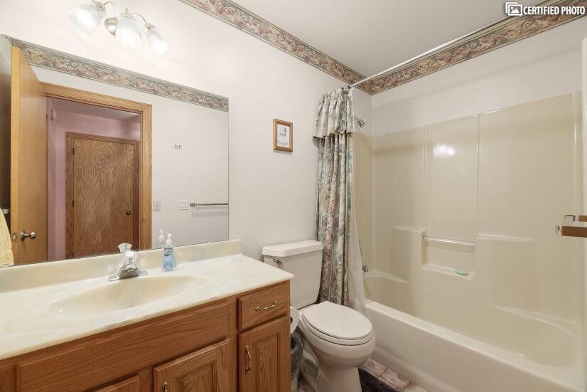 Full Bath next to Bedroom