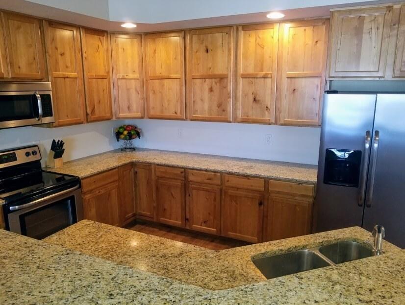 Beautiful, fully stocked cabinets
