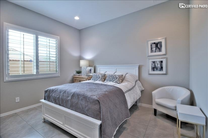 Bedroom #3. Light and airy decor.