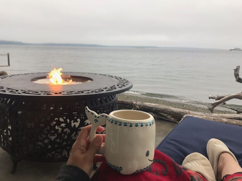 Morning coffee with seals
