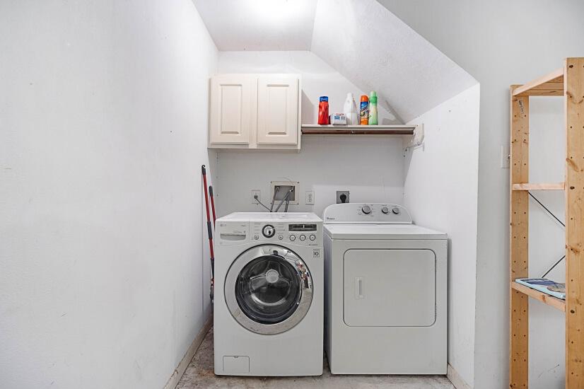 Washer & Dryer located in Garage