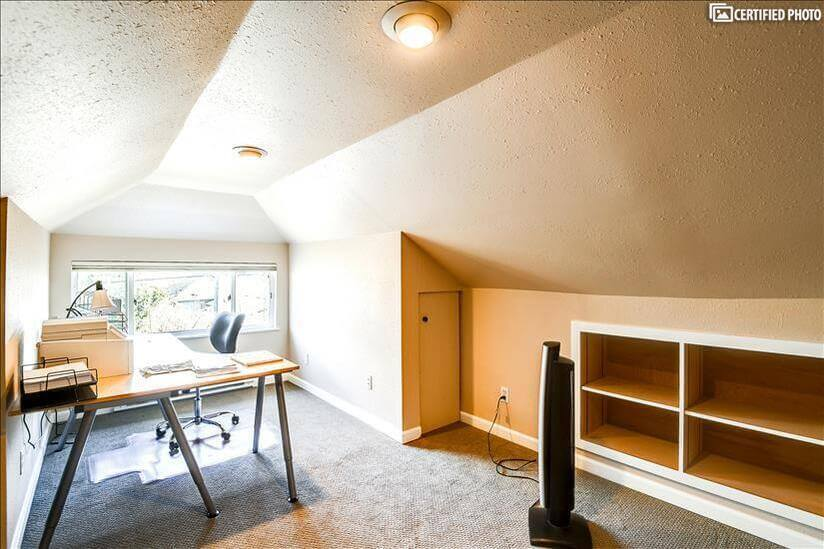 Private upstairs office with  printer/storage
