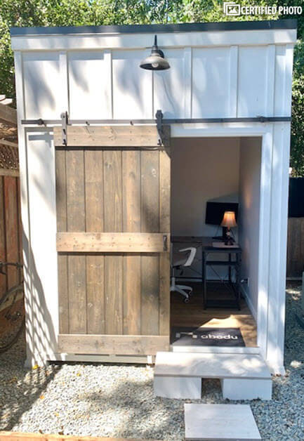 A second office or storage shed