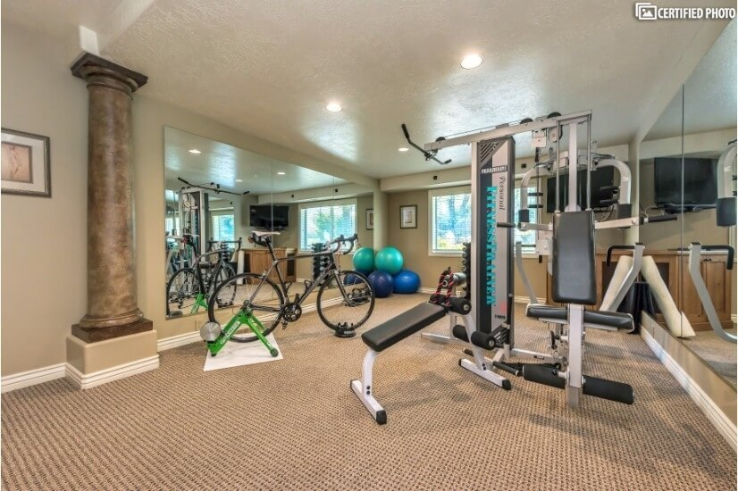 Private exercise & workout room w/ TV & Fridge
