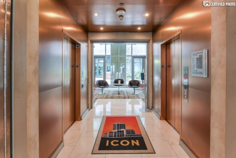 ICON elevators for your quick ride to the Skybox.