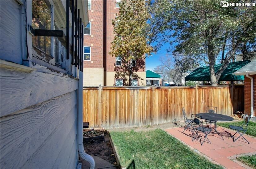 Backyard - patio area