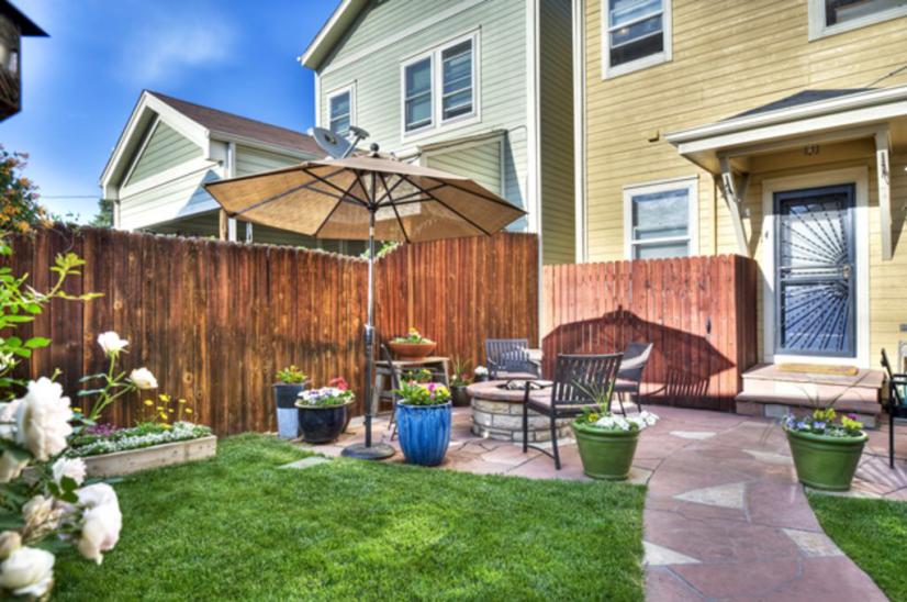 Beautiful private backyard
