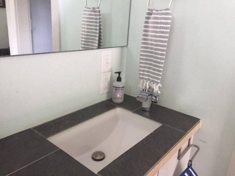 2nd floor Under-counter sink with Designer fixtures