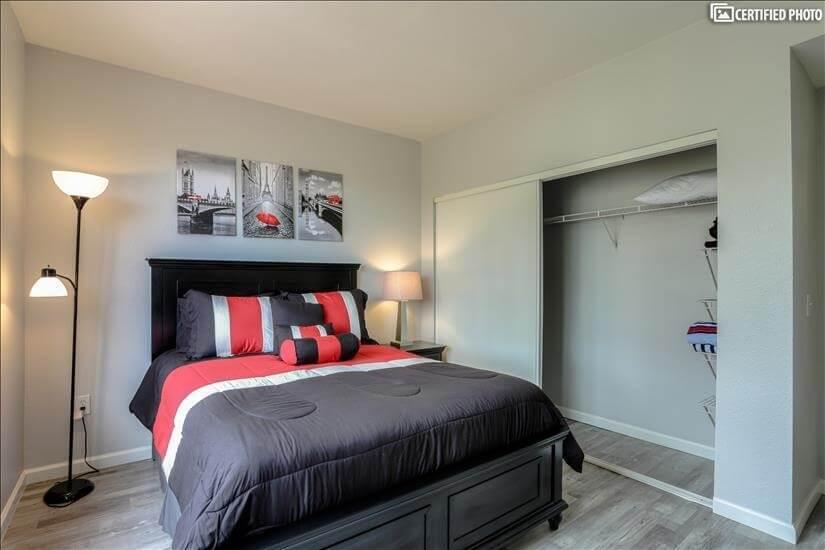 Guest Bedroom has a Large Closet
