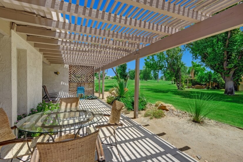 Terrace with patio table